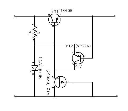 The Voltage Regulator With a Field Effect Transistor