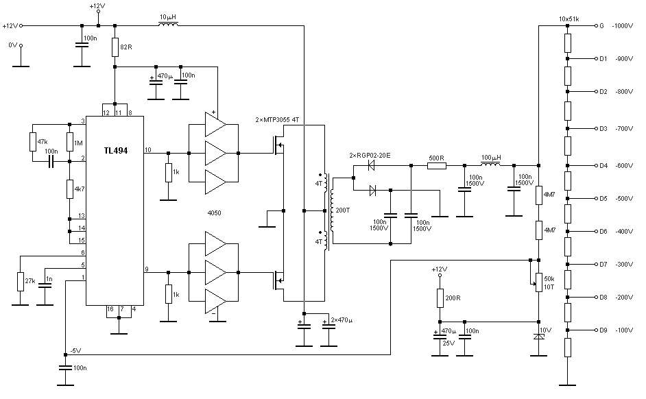 stable power supply for high voltage 100v to 1000v wiring diagrams u2022 rh autonomia co