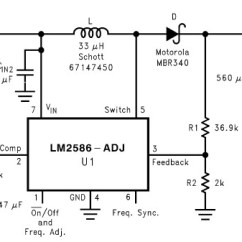Ups Wiring Diagram Circuit Ac Delco Alternator Dc Voltage Doubler +12v To +24v Using Lm2586 - Power Supply Circuits