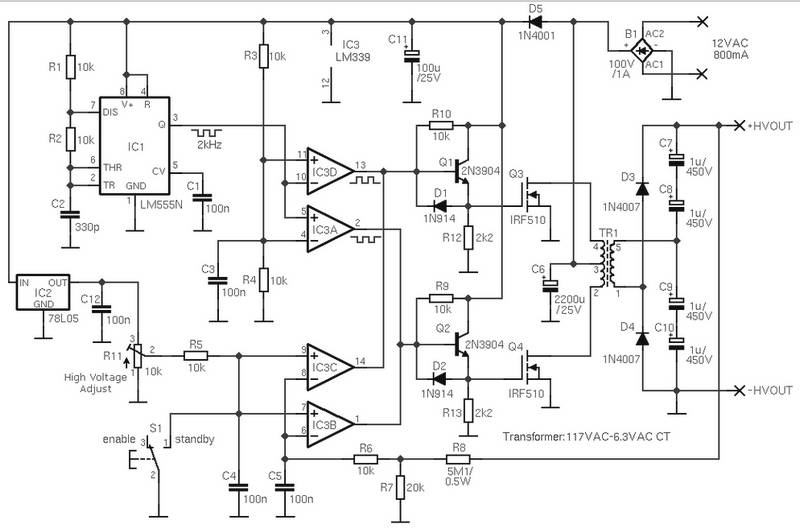 Transistor Voltage Amplifier Circuit Diagram