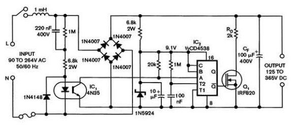 Universal power supply with a