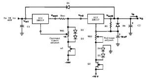 Variable power supply with current limit