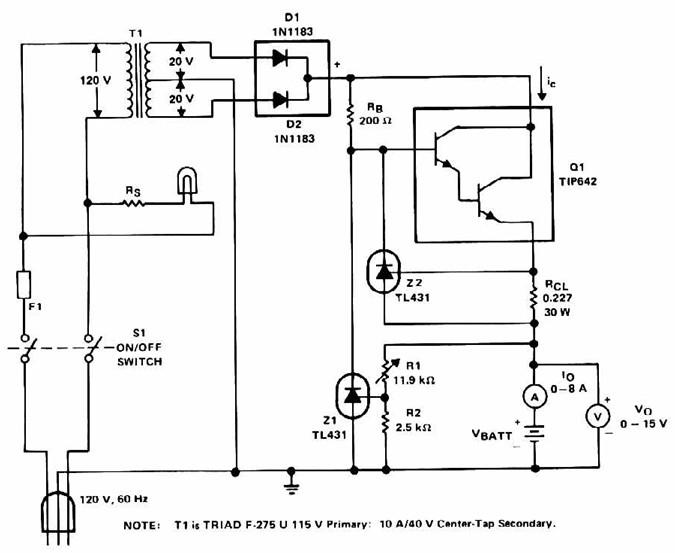 lead acid battery charger with current limit
