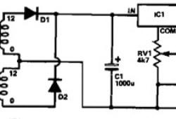 5V to 15V Power Supply using 7805 IC Regulator