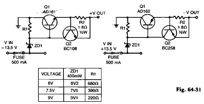 positive regulator with pnp boost power supply circuitslow voltage regulators with short circuit protection