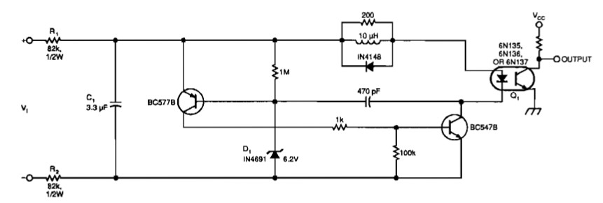 Isolated Voltage Sensors scheme
