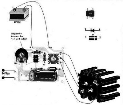 Automatic battery charger assembly