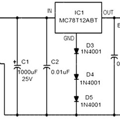 Dc Regulated Power Supply Circuit Diagram 1997 7 3 Powerstroke Glow Plug Relay Wiring 12 V Car Battery Charger Based 7812 - Circuits