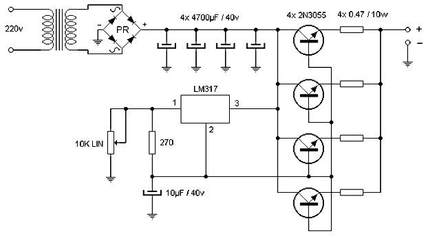 15 ampere adjustable power supply power supply circuits Power Supply Kits  12Vdc Power Supply Schematic Bipolar Power Supply Schematic Light Theremin Schematic