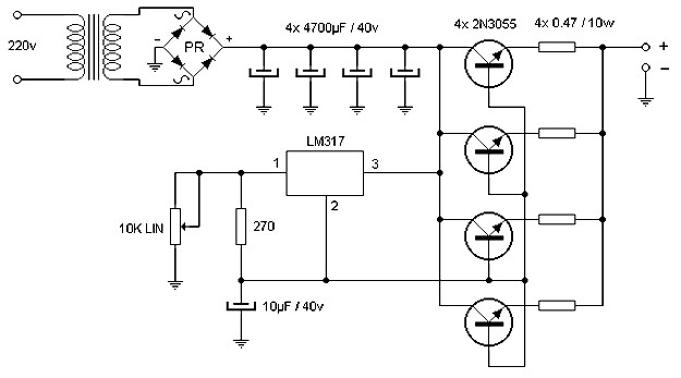 Voltage Regulator additionally Regulated 20Power 20Supply  20Variable furthermore High Current 10 To 20   Automatic also Viewtopic besides Build Voltage Regulator 12v To 24v. on 10 volt regulator lm317t circuit diagram