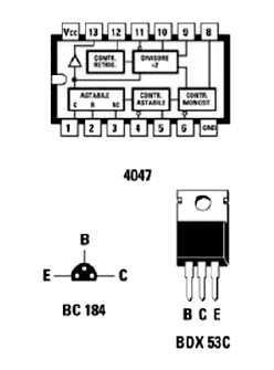 Inveter component pin layout