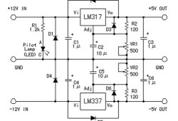 Symmetric 12V to 5V converter