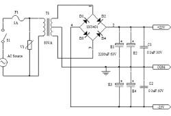 Simple Symmetrical Power supply +25v -25v