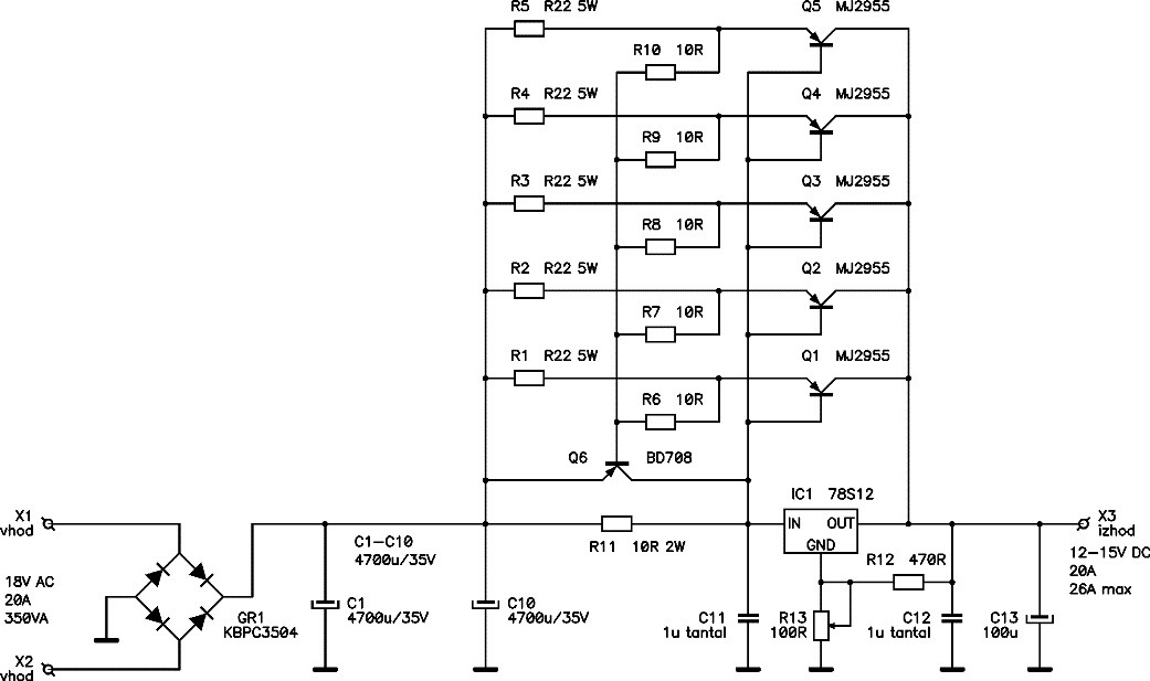 wiring diagram for solar battery charger craftsman pressure washer 12v / 20a regulated dc power supply - circuits