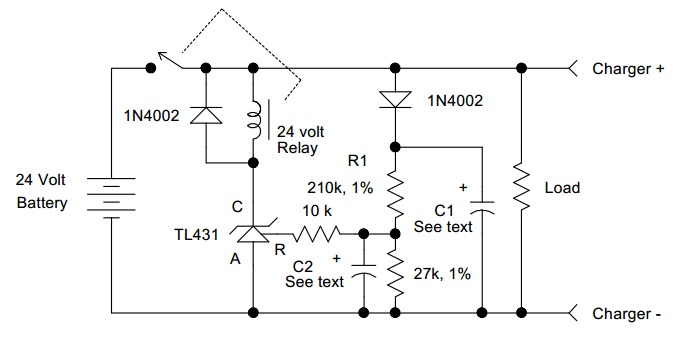 Battery Discharge Monitor - Power Supply Circuits