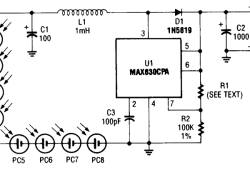 Simple Photocell Power Supply using MAX630