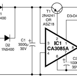 12V / 3A Regulated Power Supply Scheme Diagram