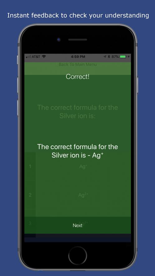 Chemistry quiz app