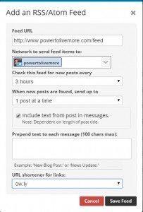 hootsuite rss adding details