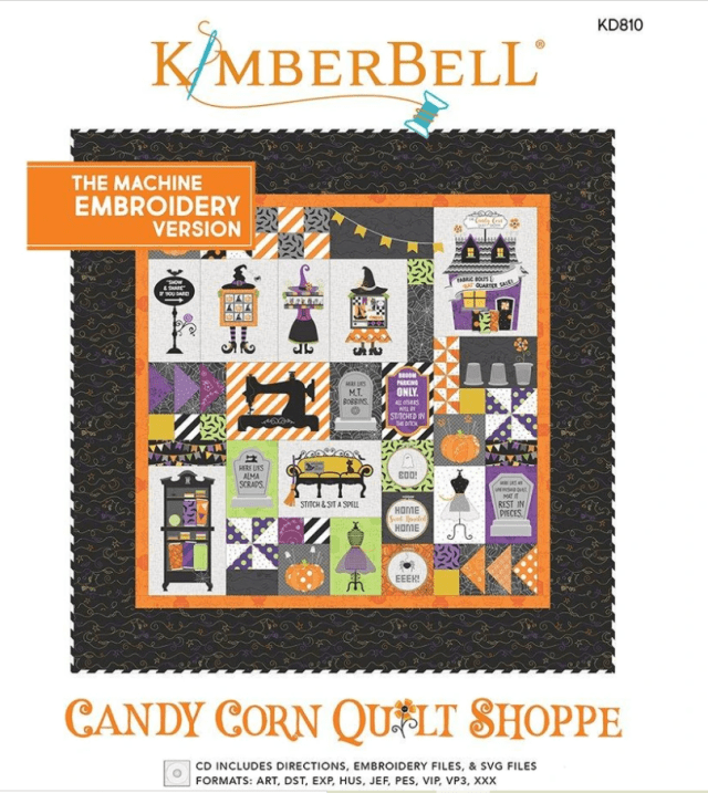 Kimberbell's Candy Corn Quilt Shoppe Embroidery Pattern