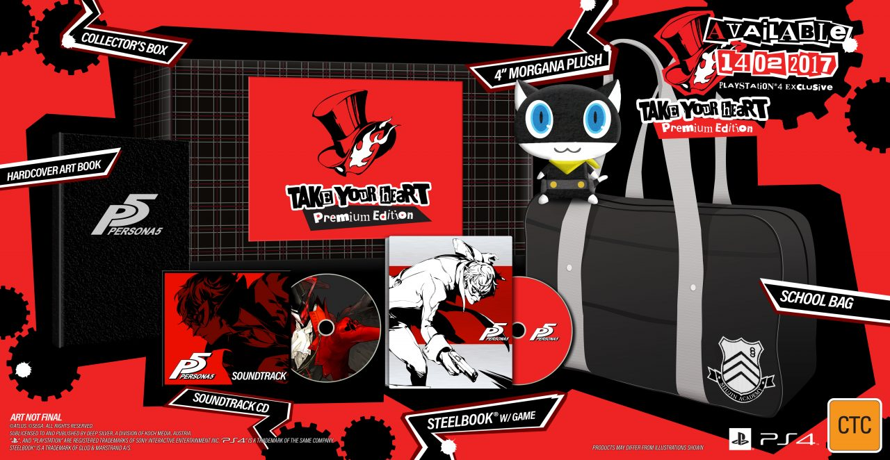 Persona 5 coming to Australia in 2017