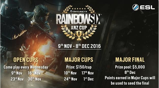 Rainbow Six: Siege's ESL season 2 commences next week
