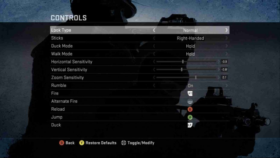 Counter-Strike offering customisable controls, an option which is surprisingly uncommon in modern games.