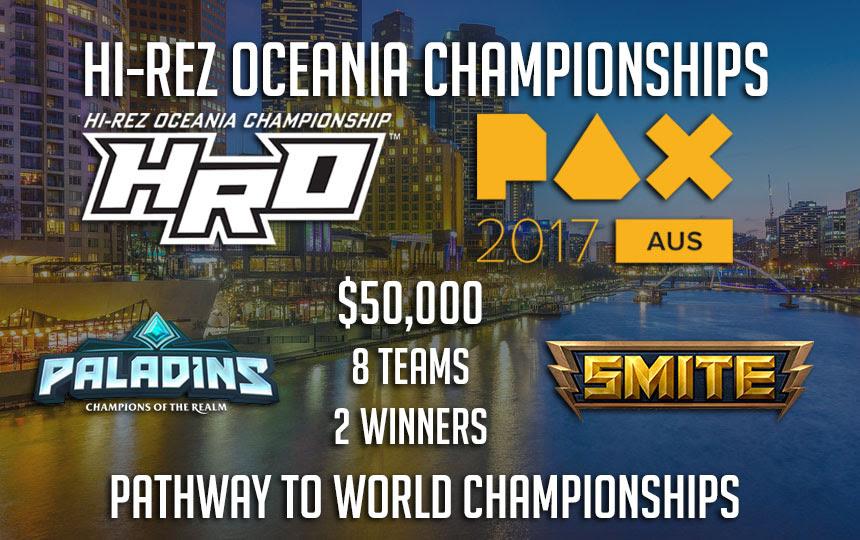 Hi-Rez Oceania Championships returns to PAX Aus 2017