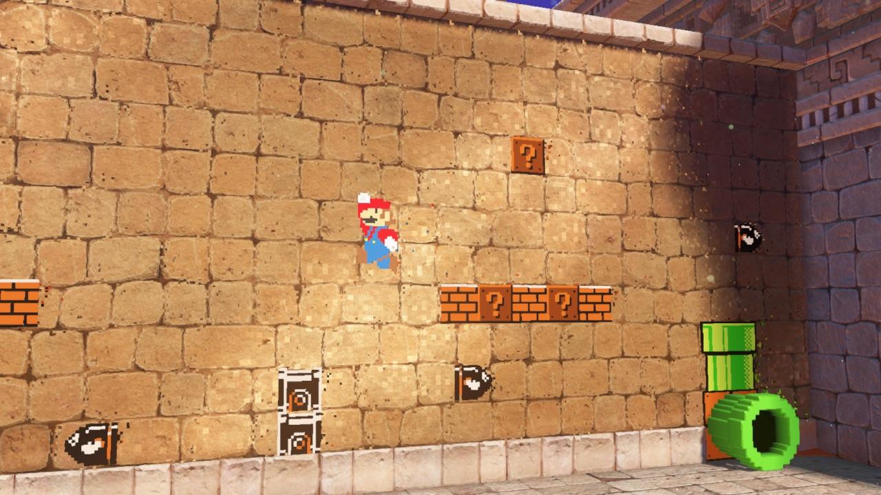 Super Mario Odyssey A 2d Section In Seaside Kingdom Powerup