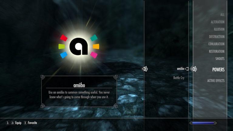 Skyrim switch guide what do amiibo unlock powerup