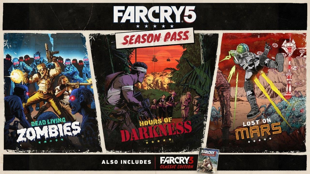 Far Cry 5's season pass content will send you travelling through time and space