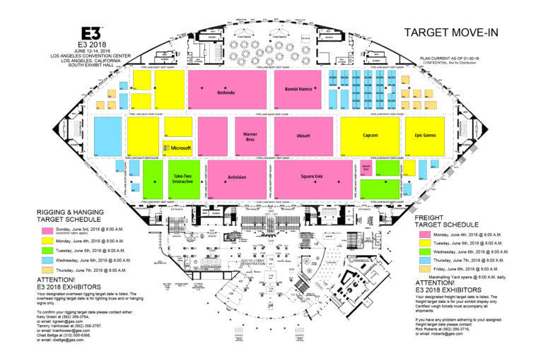 Early E3 2018 floor layout and exhibitor list published