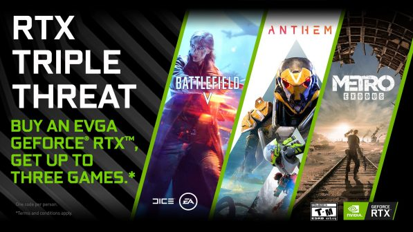 NVIDIA RTX Triple Threat Bundle gets you Battlefield V, Anthem and Metro Exodus