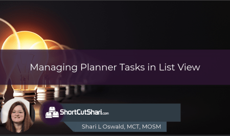 TIP!Tuesday –   Managing Planner Tasks in List View