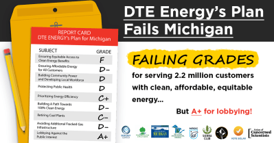 DTE Report Card Social Graphic