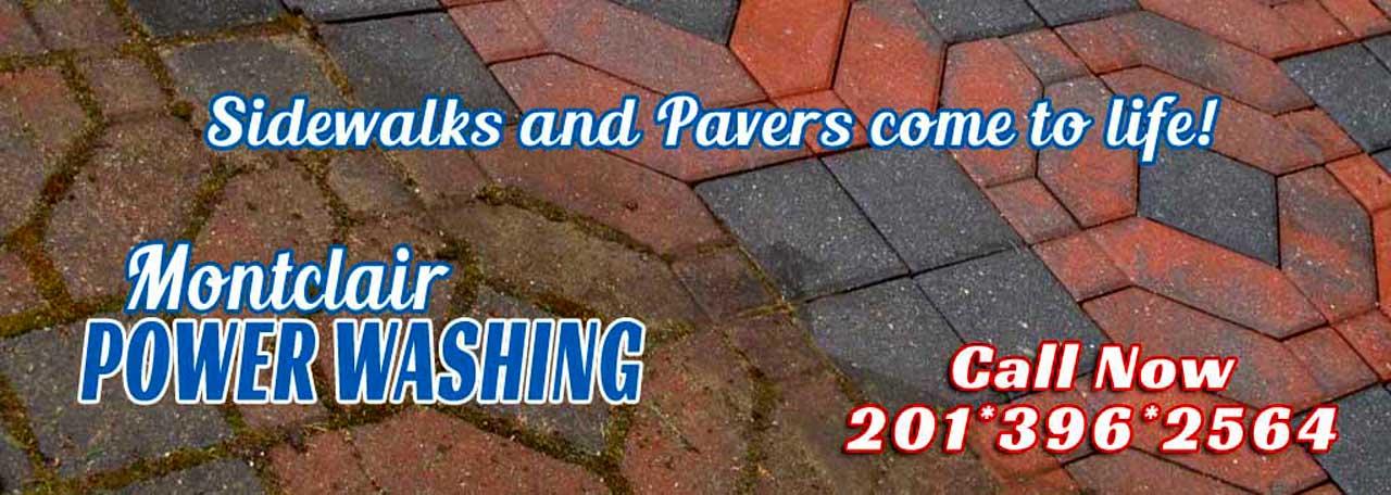 Power Washing Sidewalks & Pavers - Montclair, New Jersey