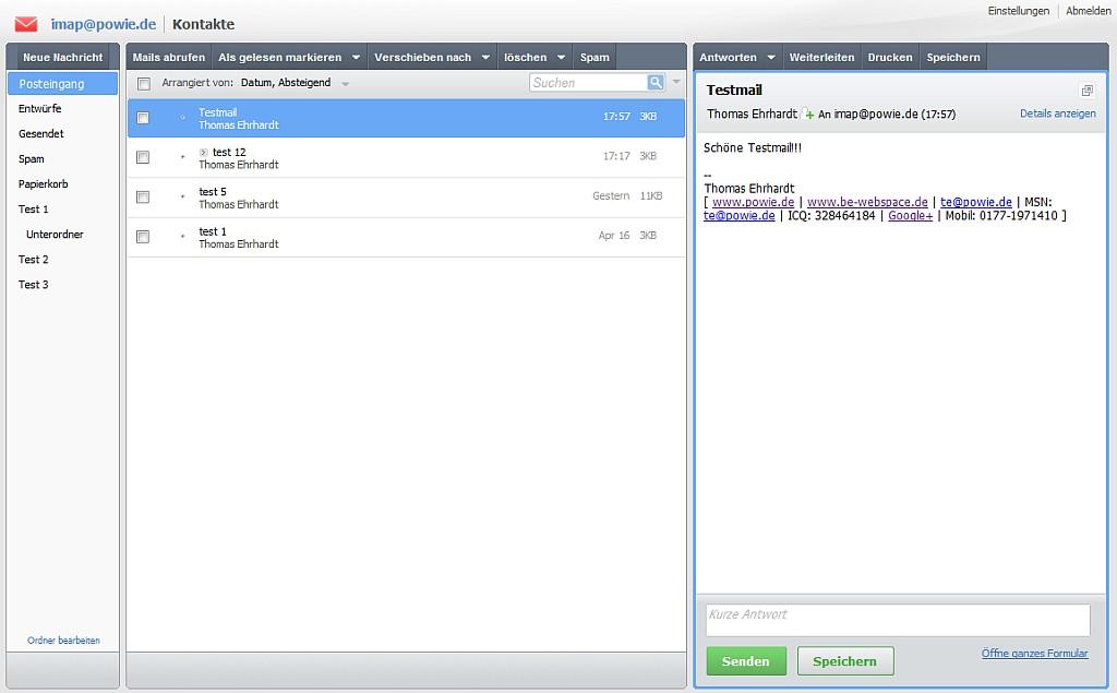 Confixx Webmail Ersatz: AfterLogic Webmail