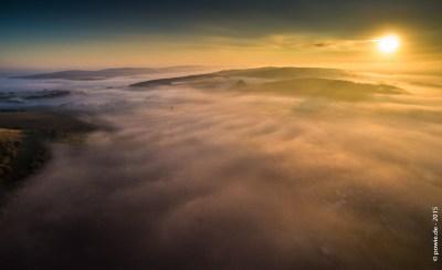 Sonnenaufgangs Nebelschwaden