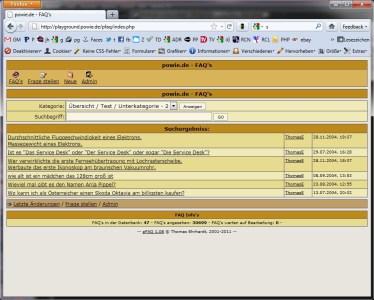 pFAQ Screenshot