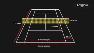 touchtennis ball, court