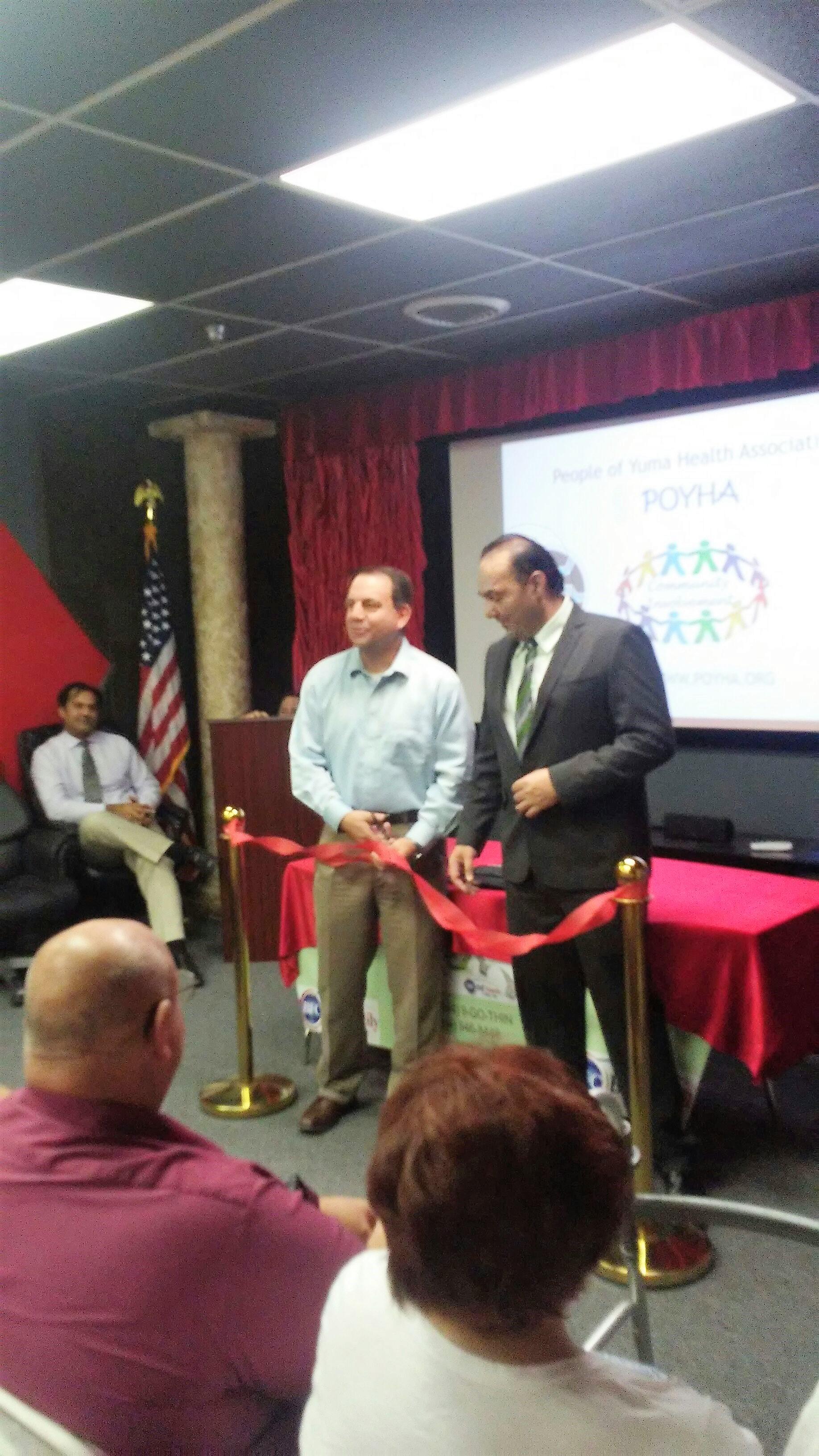 City of Yuma Mayor Douglas J. Nicholls attends POYHA opening ceremony