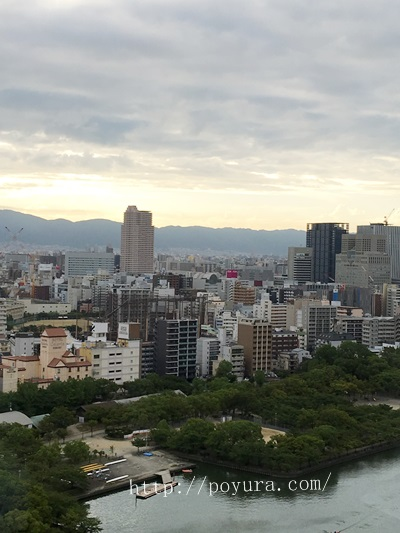 帝国ホテル大阪宿泊感想部屋からの眺め