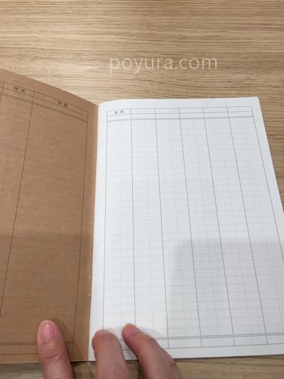 無印良品の家計簿ノート