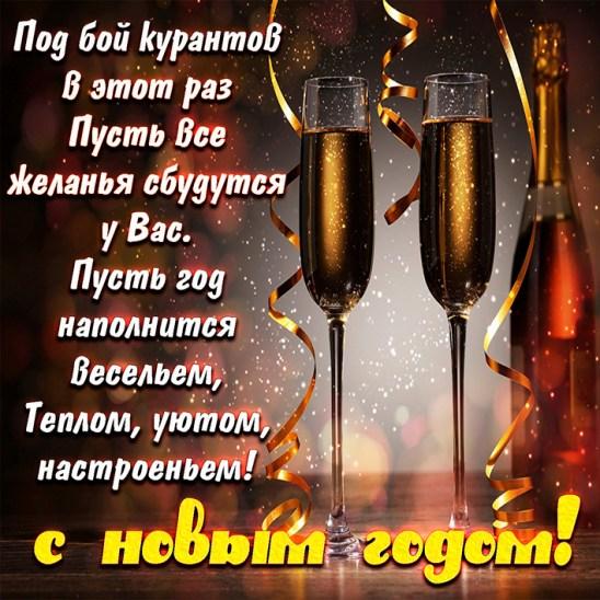 Пожелание на Новый год под бой курантов | С Новым Годом 2021 | Открытки с поздравлением