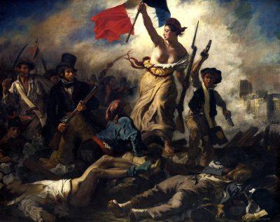 Wolność wiodąca lud na barykady / Eugène Delacroix, 1830