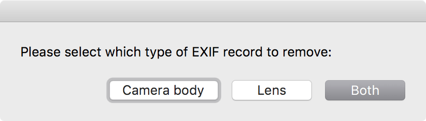 Remofe from EXIF...