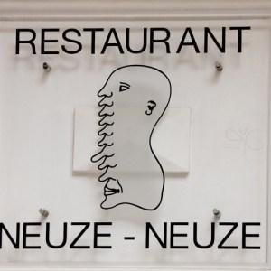 Логотип ресторана нос-нос (Neuze-Neuze)