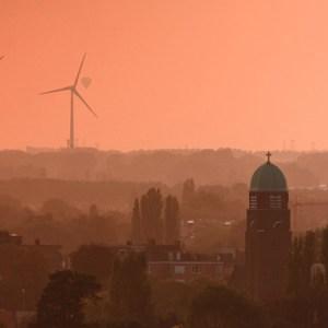 Вид с крыши университета Антверпена, кампус Groenenborger