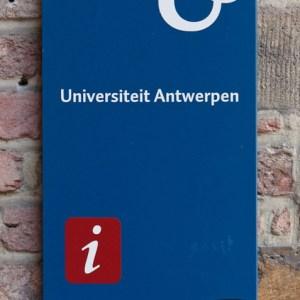 Центральный кампус университета Антверпена: логотип университета