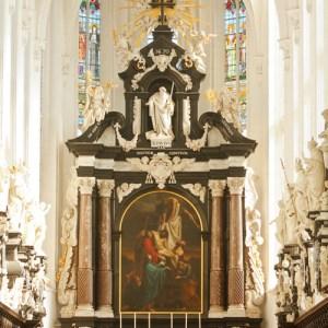 Фрагмент интерьера Sint Pauluskerk: алтарь